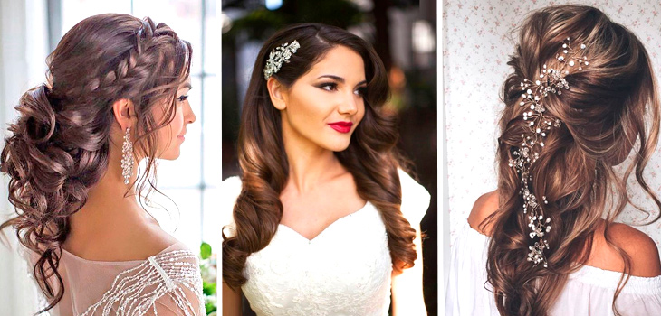9d28557287f69bd Свадебные ПРИЧЕСКИ 2018 – ФОТО на длинные и средние волосы