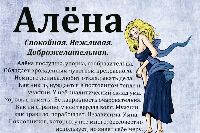Значение имени Алена судьба характер и совместимость с мужскими именами